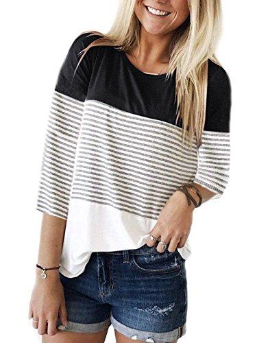 Woman wearing a Three-Quarter Sleeves T-Shirt