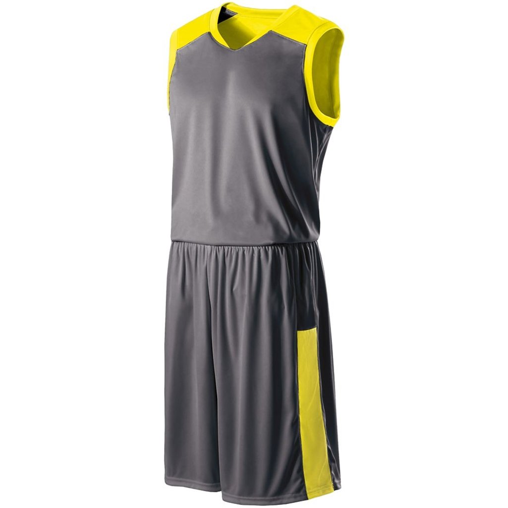 Holloway Reversible Nuclear Jersey (XX-Large, Bright Yellow/Carbon) by Holloway