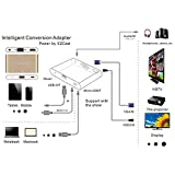Digital AV Adapter Converter Micro USB to HDMI + VGA + Audio Dual Display Full HD 1080P Power by EZCast Support IOS Android Window MacBook for Ipad Iphone Smartphone Tablet Laptop