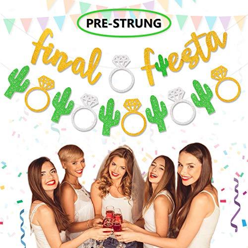 Final Fiesta Banner Bachelorette Bridal Shower Girls Night