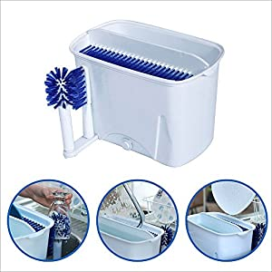 EasyGoDishwasherTM - Manual Portable Dishwasher - Easy to clean all size dishes and silverware. This dish scrubber is great for houses, condos, apartments, camping, boats and RV's - 100% Satisfaction Guaranteed