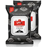 Yes To Tomatoes Clear Skin Detoxifying Charcoal Facial Wipes, 30 Count (Pack of 2)