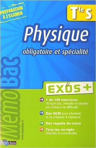 Lire en ligne Physique Tle S : Exos + epub pdf