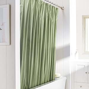 United Linens 10 Gauge Heavy Duty Shower Curtain Liner Sage 72x72 Peva Mildew