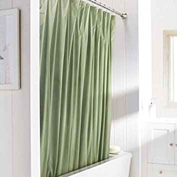 United Linens 10 Gauge HEAVY DUTY Shower Curtain Liner Sage,72x72, PEVA, ,