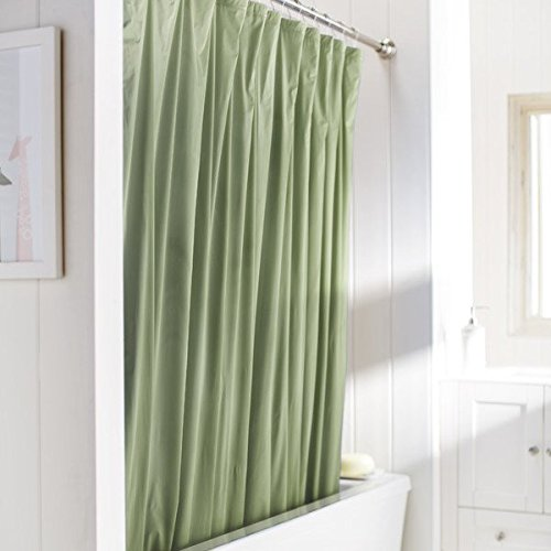 United Linens 10 Gauge HEAVY DUTY Shower Curtain Liner Sage,70x72, PEVA, , Mildew Free, Resistant, Mold Resistant , Eco Friendly , Vinyl , No Chemical Odor liner (Shower Curtain Liners Colored)