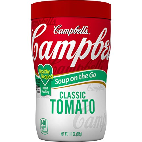 Campbell's Healthy Request Soup on the Go, Classic Tomato, 10.75 Ounce (Pack of 8) (Campbells Tomato Soup)