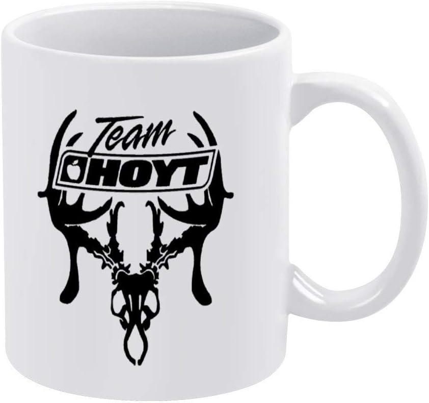Taza de café de caza de ciervos de tiro con arco de Team Hoyt, taza de cerámica, taza de té para bebidas para el hogar y la oficina, cumpleaños, aniversario, Halloween, Navidad, San Valentín, regalo p