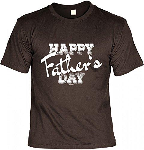 T-Shirt Vater Papa - Happy Father s day - Geschenk Idee Humor zum Vatertag - braun
