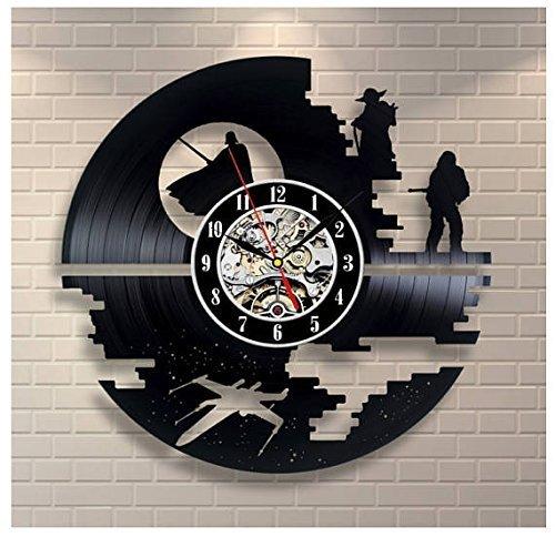 Amazon Com Star Wars Vinyl Record Clock Home Decor Art
