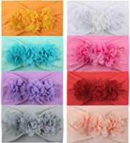 JUMJEE Baby Girl Headband Bows Nylon Hairband for Toddler Newborn Infant Headwrap Knot Hair Accessories