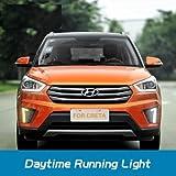 VOLMAX Hyundai Creta LED Day Time Running Lights Fog Light Cover (HYUNDAI CRETA LED DRL)