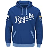 Majestic Kansas City Royals Mens Royal Third Wind Embroidered Pullover Hoodie Sweatshirt