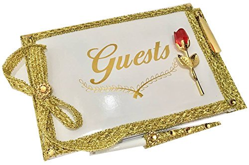 All Occasion Guest Book with Pen Set For Wedding Sweet 16 Birthday-Beauty and The Beast Belle Party ()