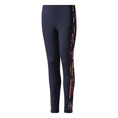 d8f2d4461ec adidas Leggings - J Rose blue/multicolor size: 147-152 cm tall - 11 to 12  years: Amazon.co.uk: Clothing
