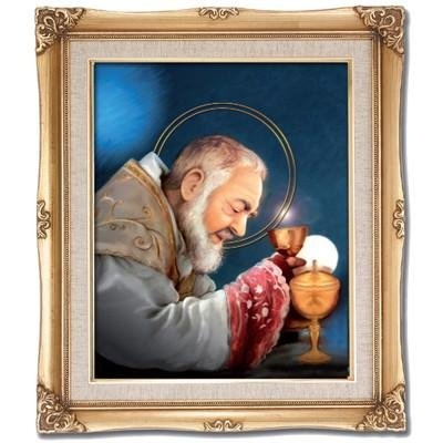 St. Padre Pio Framed Art by Discount Catholic Store