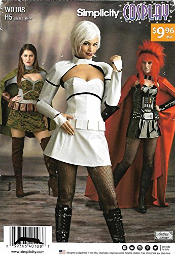 Simplicity Sewing Pattern W0108 0108 Misses Size 6-14 Cosplay Intergalactic Costumes (Intergalactic Costumes)