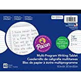 Pacon PAC2481BN Multi-Program Handwriting Tablet, 1/2'' Ruled (Long Way), 10-1/2'' x 8'', 40 Sheets per Tablet, Pack of 12