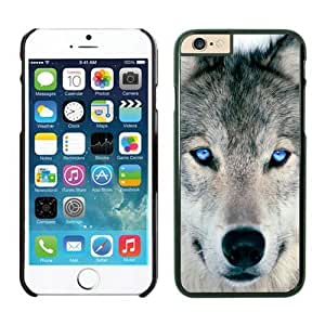 Iphone 6 Plus Case 5.5 Inches, Wolf Coolest Animal Black Phone Protective Cover Case for Apple Iphone 6 Plus Mobile Accessories by lolosakes