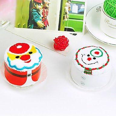 Genérico-regalo de Navidad de Papá Noel y muñeco de nieve de la torta de Tela (100% de algodón de, 30 * 30 cm, Random-tipo)