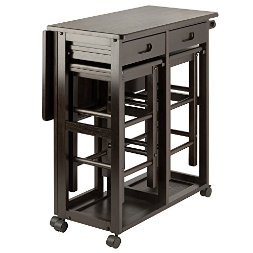 Winsome Wood 23330 Suzanne 3-PC Set Space Saver Kitchen, Smoke by Winsome Wood (Image #4)