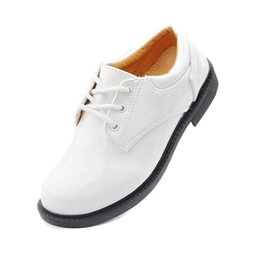 Zapatos clásicos de Cuero con Cordones para niños Zapatos Escolares Elegantes adecuados para Boda Escolar: Amazon.es: Zapatos y complementos