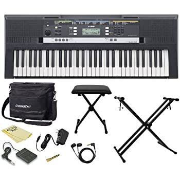 yamaha psr e243 61 key portable keyboard kit