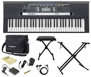 yamaha psr e243 61 key portable keyboard kit includes chromacast keyboard bench. Black Bedroom Furniture Sets. Home Design Ideas