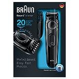 Braun BT3020 Men's Beard Trimmer, Cordless & Rechargeable, Black