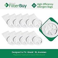 FilterBuy 10 Oreck Ironman Compatible Vacuum Bags. Replaces Oreck Part #s PKIM765 & 61963. Allergen Filtration Vacuum Bags designed by to replace Oreck XL Ironman Vacuum Bags