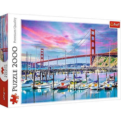 Trefl 2000 Piece Jigsaw Puzzle, Golden Gate, San Francisco
