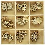 2015 art ca - Darice 2015-05 Wooden Shapes 45/Pkg-Sealife