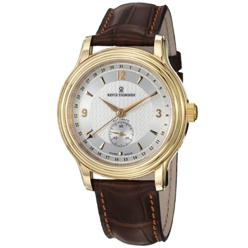 Revue Thommen Classic Date Men's Yellow Gold-tone Automatic Watch 14200-2512