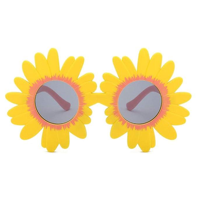 Wang-RX Moda sol flor redondo lindo niños gafas de sol UV400 ...