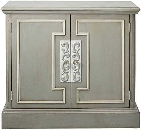 Pulaski Two Door Framed Chest Accent Cabinet London Grey