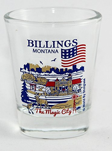 Glass Montana Shot (Billings Montana Great American Cities Collection Shot Glass)
