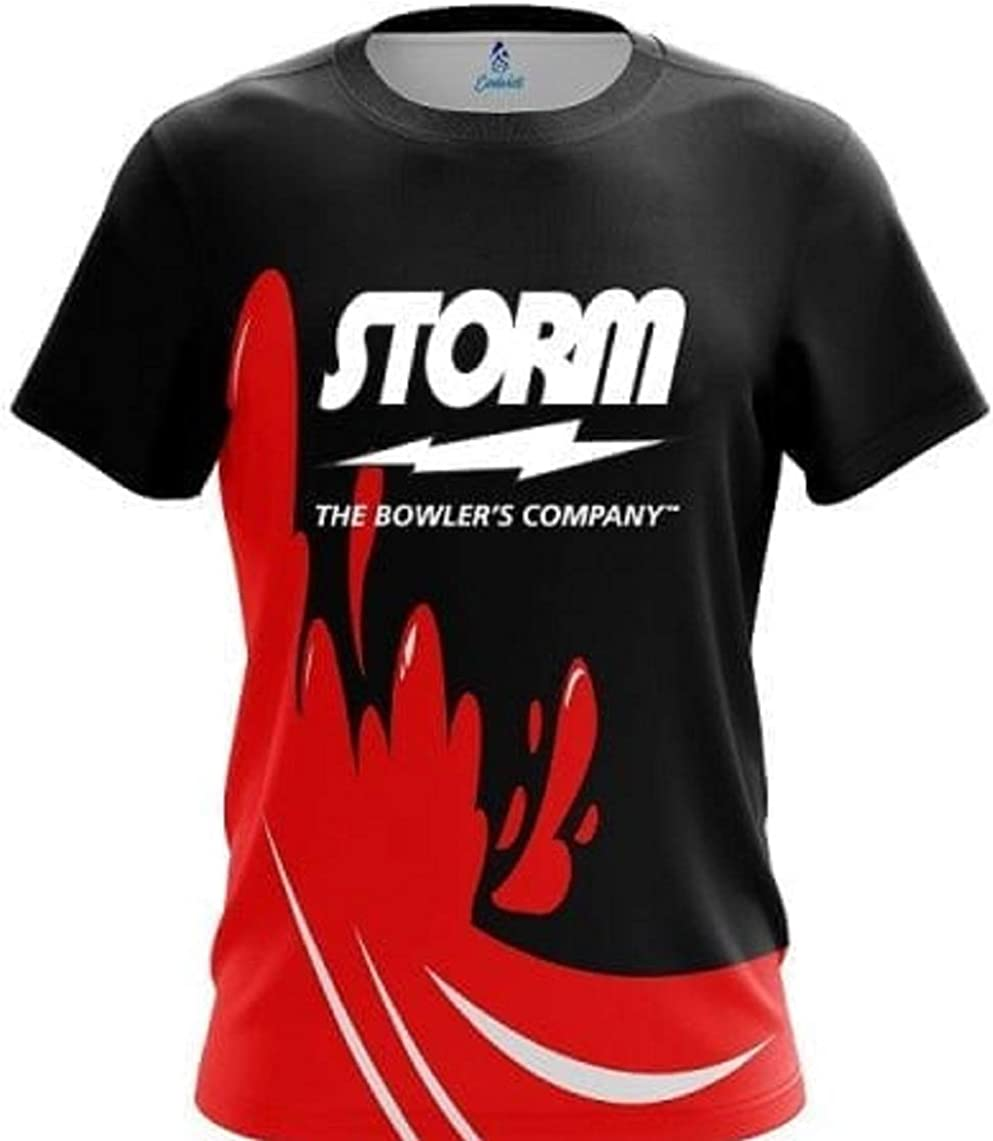 CoolWick Storm Red Splash Bowling Jersey