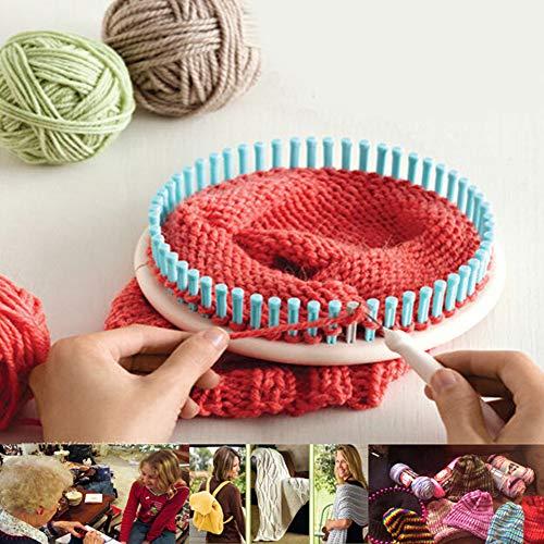 DIY handmade round sweater weaver, 4 size plastic round knitter loom, wool thread knitting machine hat kraft sock manufacturer(colorful)