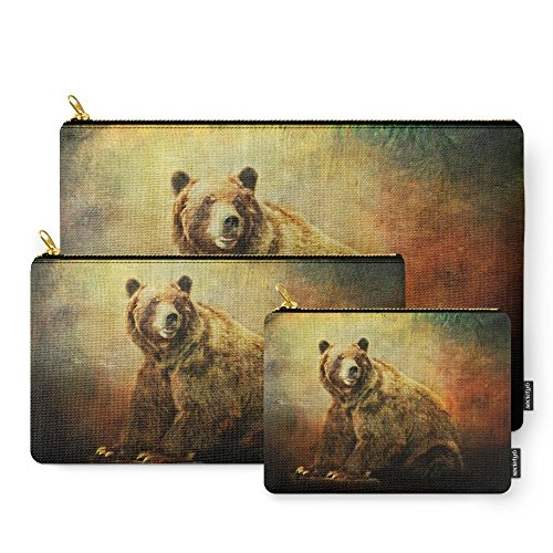 Society6 Grizzly Bear In Morning Sun Carry-All Pouch Set ...
