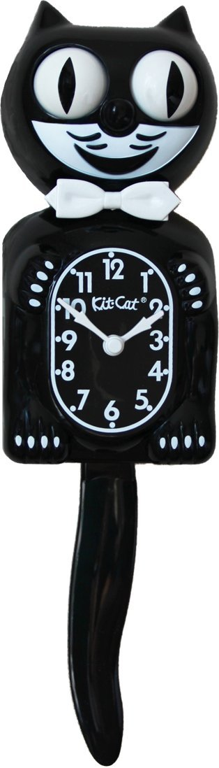 Kit Cat Clock キットキャットクロック (ブラック) BC1 B0019IBD3U