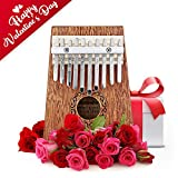 Robolife 10 Keys Kalimba Thumb Piano Finger Piano Musical Toys with Tune-Hammer and Music Book