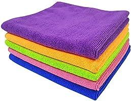 Softspun Microfiber Car Cleaning Cloth (Set of 5 Multicolou