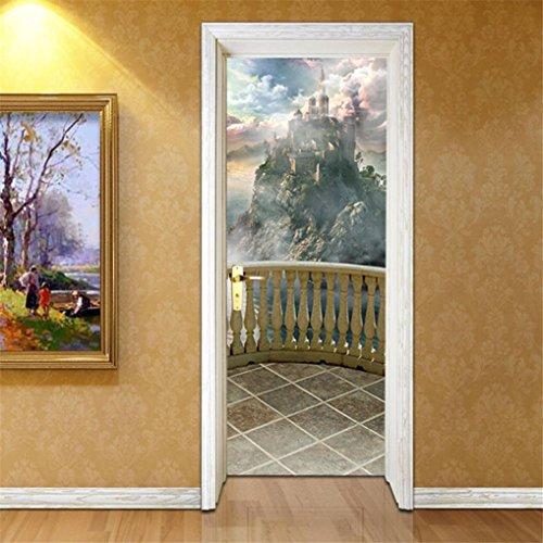 Cheap  Fheaven 3D Creative Door Stickers Bedroom Doors Renovation Waterproof Door Stickers (B)
