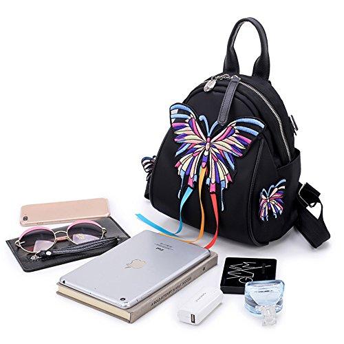 Fiori dimensione five Four 24 Borsa ricamati a MSZYZ Minibackpack Oxford doppia 21 Style 15CM Style 5 tracolla Messenger Bag XzRnp7q