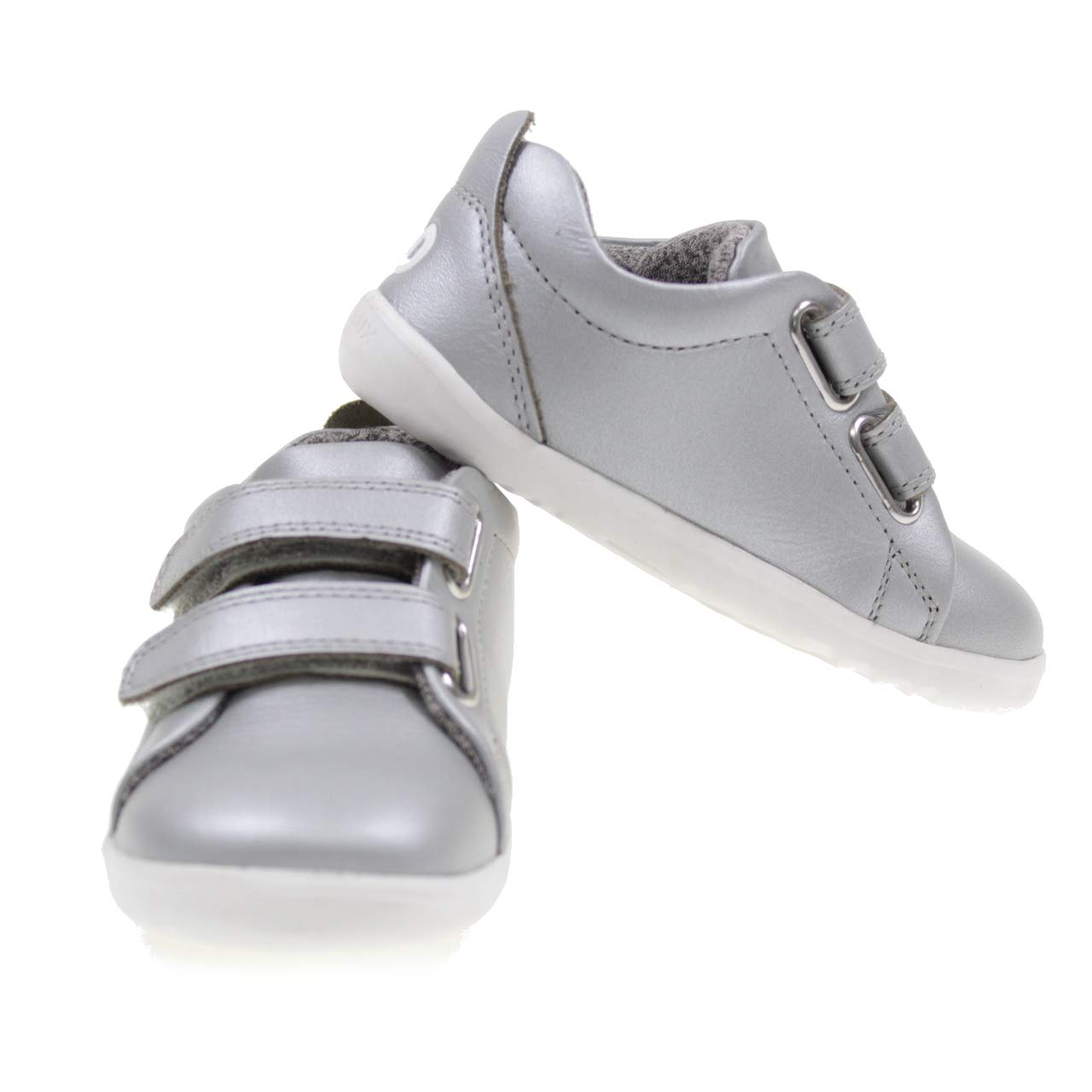Bobux Step Up Grass Court Plata Cuero Beb/é Los Primeros Caminantes Zapatos