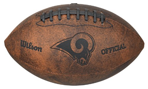 Wilson NFL Los Angeles Rams Vintage Throwback Football, 9-inches