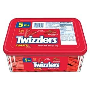 TWIZZLERS Twists (Strawberry, 5-Pound Package)