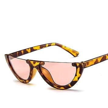 WET0VSD Nuevo Vintage Half Frame Gafas De Sol Mujer Ojo De ...