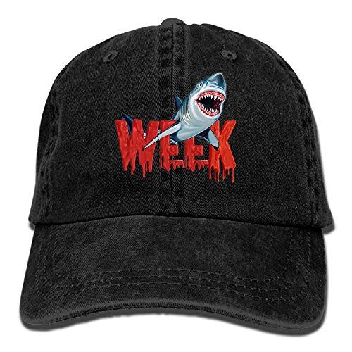 (Custom Week of The Shark Classic Cotton Adjustable Baseball Cap, Dad Trucker Snapback)
