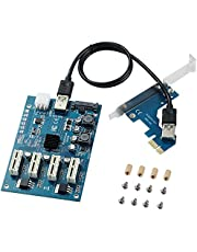 BEYIMEI PCI-E 1X naar 4 Poorten PCI Express 1X Slots Riser Card,USB3.0 Converter Extender Adapter Card,M2 Uitbreidingskaart PCIe Port Multiplier Card voor Ethereum Mining ETH